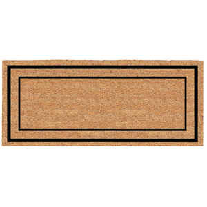 Americo Home  Classic Border  Black/Tan  Coir  Nonslip Door Mat  24 in. L x 60 in. W