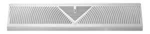 Tru Aire  6 in. H x 2-3/4 in. D 3-Way  Powder Coat  White  Steel  Floor Baseboard Diffuser