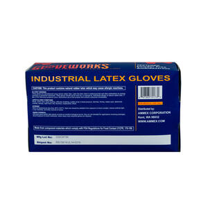 Gloveworks  Latex  Disposable Gloves  S  Ivory  100 pk
