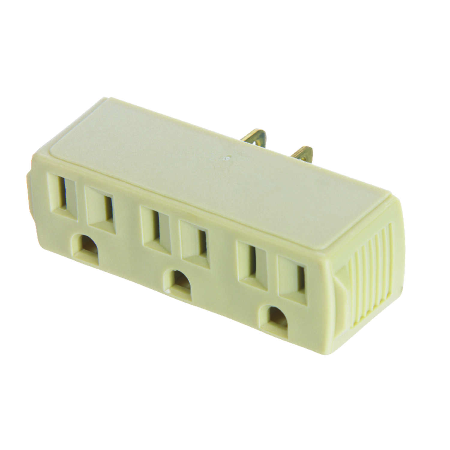 Ace  Polarized  3  Surge Protection 1 pk Triple Outlet Adapter