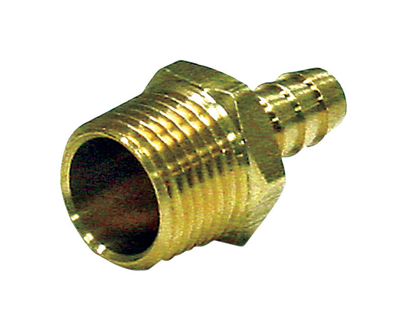 JMF  Brass  Hose Barb  5/8 in. Dia. x 1/2 in. Dia. Yellow  1 pk