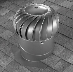 Air Vent  22 in. H x 19.5 in. W x 19.5 in. L x 12 in. Dia. Mill  Steel  Turbine and Base