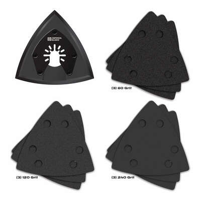 Imperial Blades  One Fit  3-1/2 in.  Triangular  Sanding Set  10 pc.