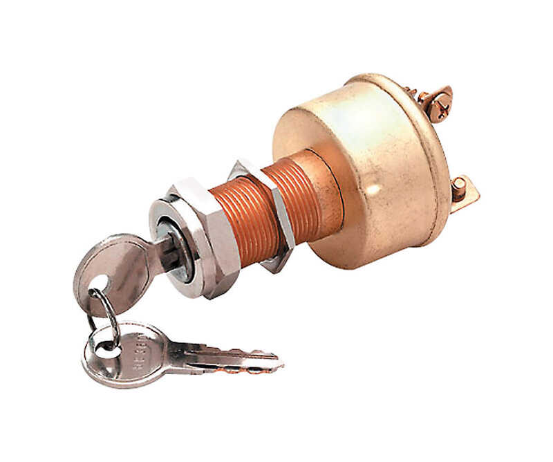 Seachoice  Ignition Starter Switch Heavy Duty  Brass