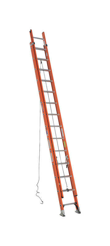 Werner  28 ft. H x 19 in. W Fiberglass  Extension Ladder  Type IA  300 lb.