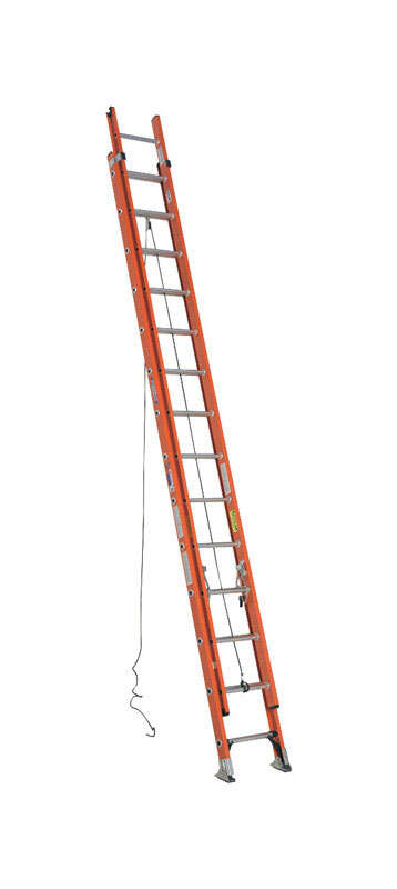 Werner  28 ft. H x 19 in. W Fiberglass  Extension Ladder  Type 1A  300 lb.