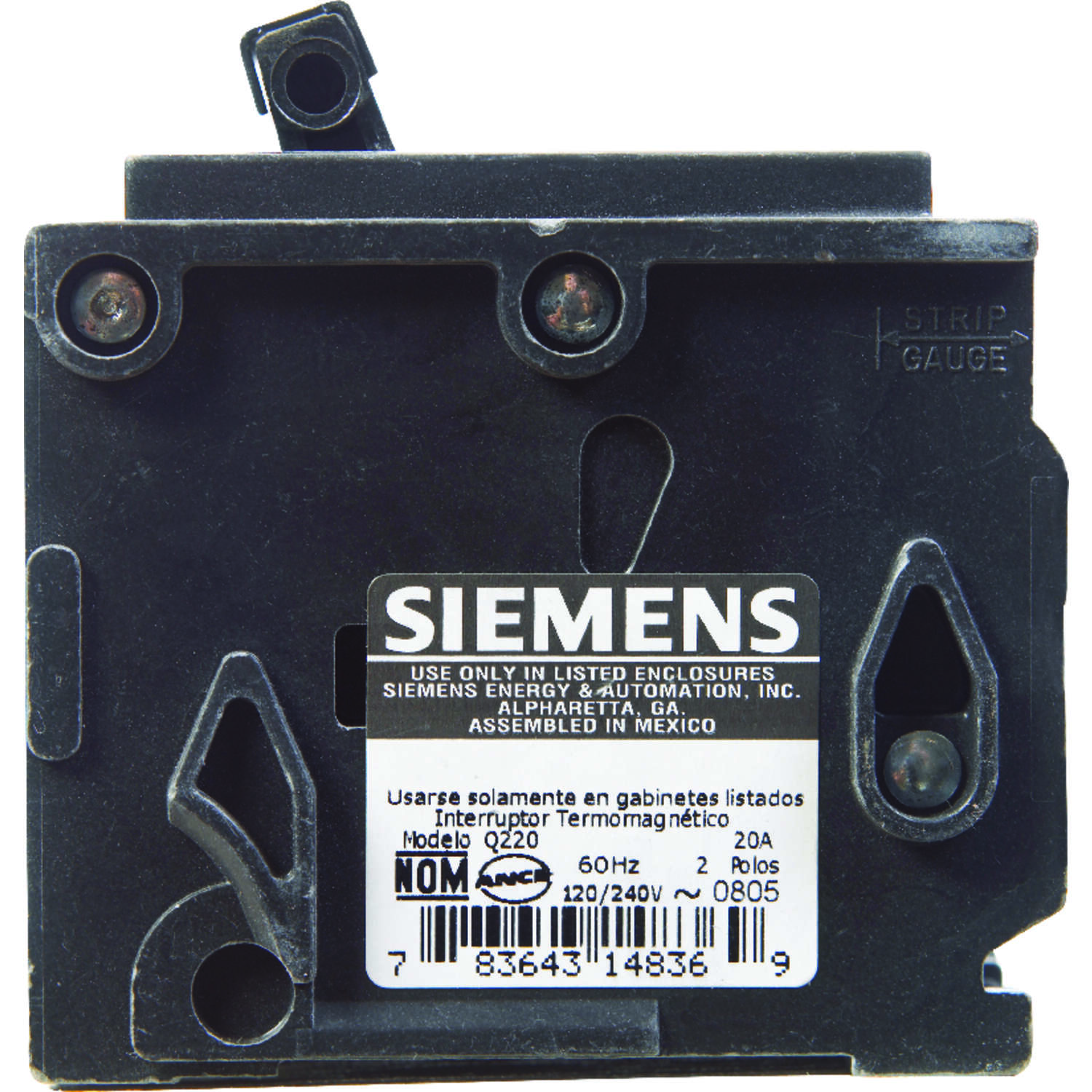 Siemens  20 amps Double Pole  2  Circuit Breaker