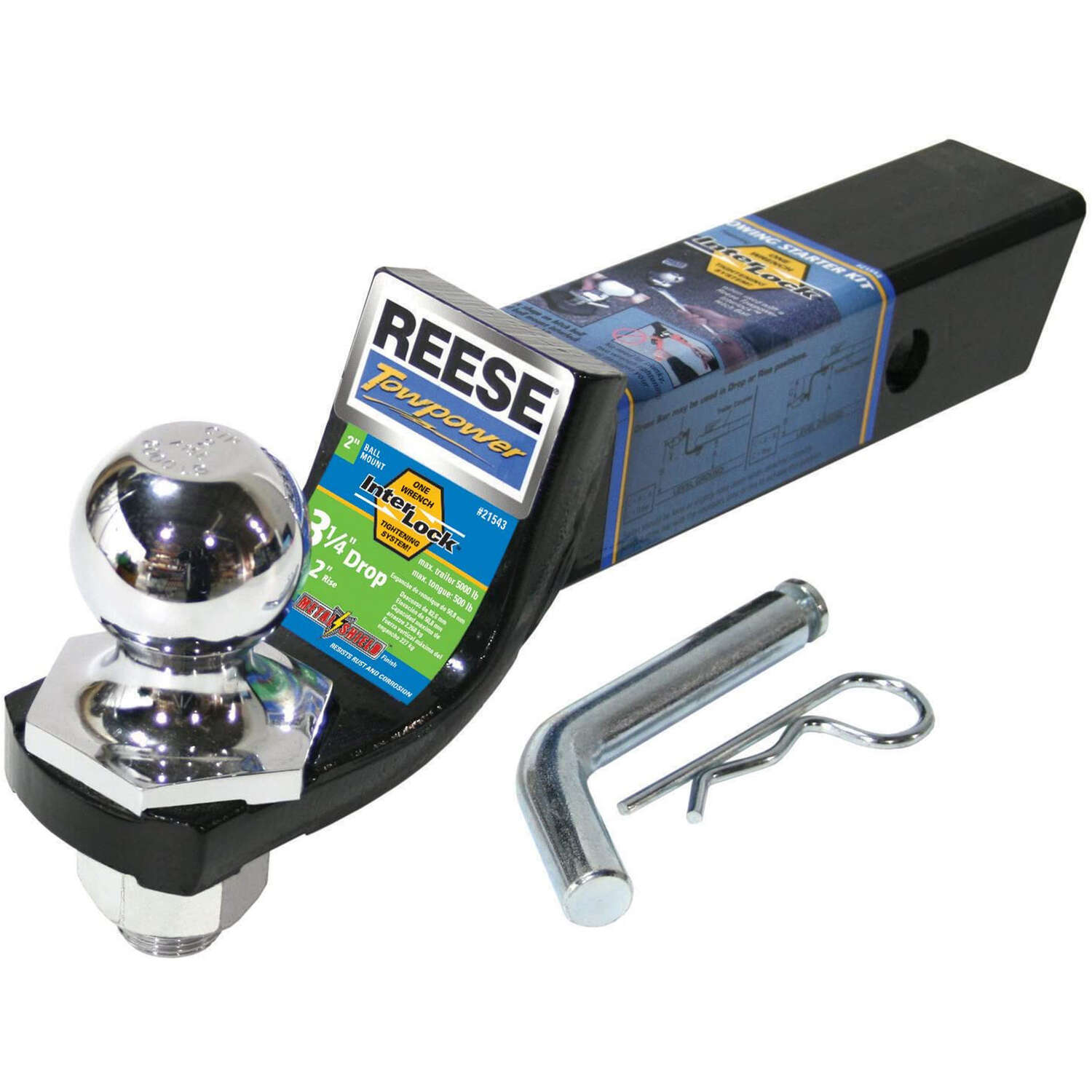 Reese  Towpower  5000 lb. capacity Trailer Hitch Starter Ball Mount Kit