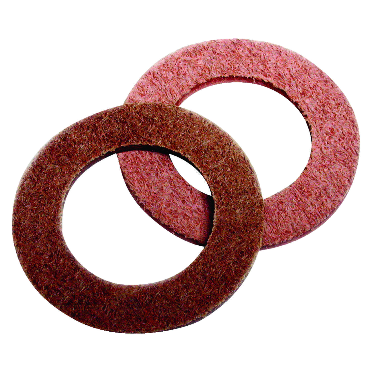 Dial  3/4 in. H x 3/4 in. W Leather  Brown  Washers