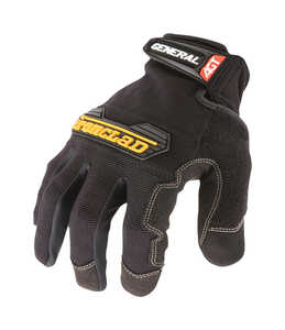 Ironclad  Universal  Synthetic Leather  Utility  Black  Large  Gloves