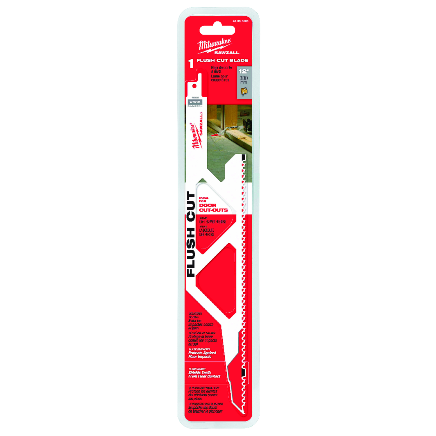 Milwaukee  Flush Cut  3 in. W x 12 in. L Flush Cutting  Reciprocating Saw Blade  5 TPI 1 pk Bi-Metal