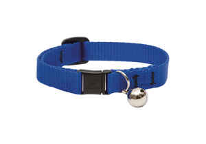 Lupine Pet  Basic Solids  Blue  Nylon  Cat  Collar