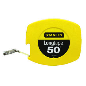 Stanley  0.38 in. W x 50 ft. L 1 pk Yellow  Closed Case Long Tape Measure