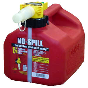 No Spill  Plastic  Gas Can  1.25 gal.