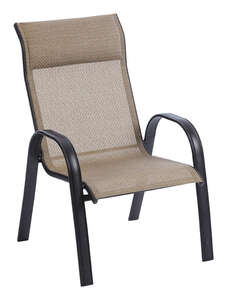 Living Accents  Brown  Steel with Sling Fabric  Newport  Chair