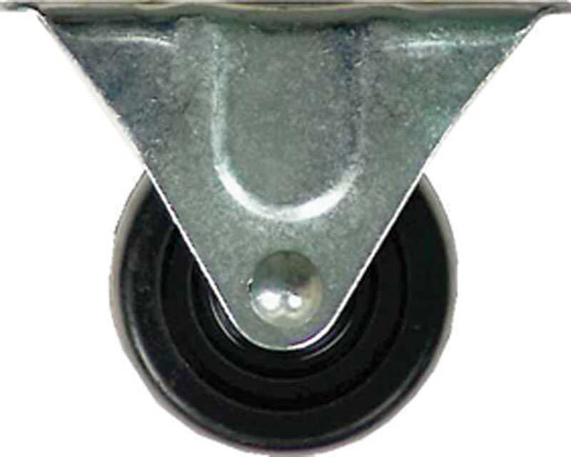 Shepherd  2-1/2 in. Dia. Rubber  Caster  100 lb. 1 pk