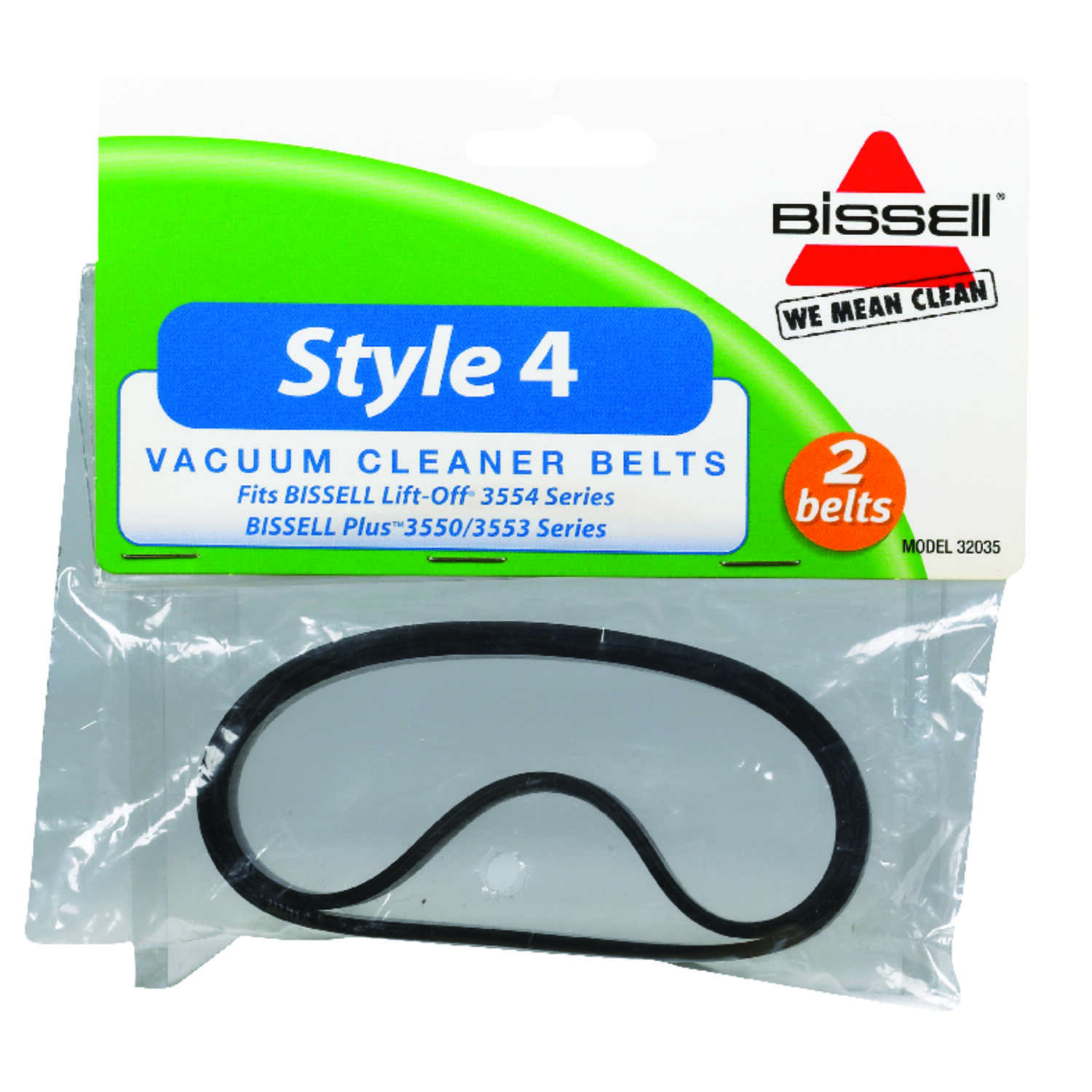 Bissell Vacuum Belt Style 4 For Use With Bissell Carded 2 / Pack Bissell