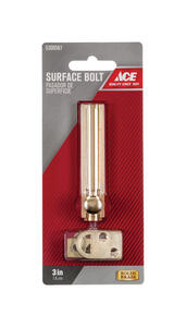 Ace  Bright Brass  Brass  Surface Bolt