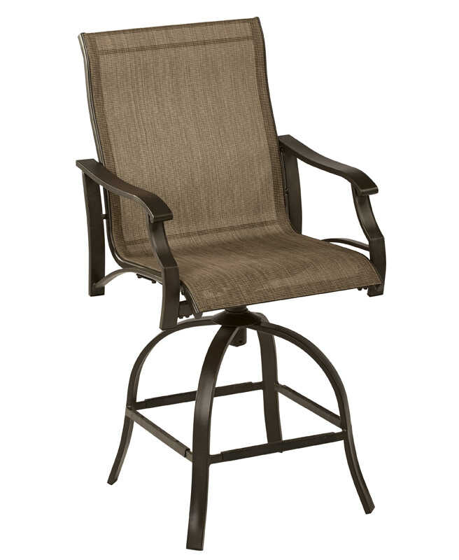 Living Accents  Brown  Steel  Monaco  Swivel Chair