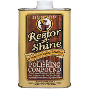 Howard  Restor-A-Shine  No Scent Polishing Compound  16  Cream
