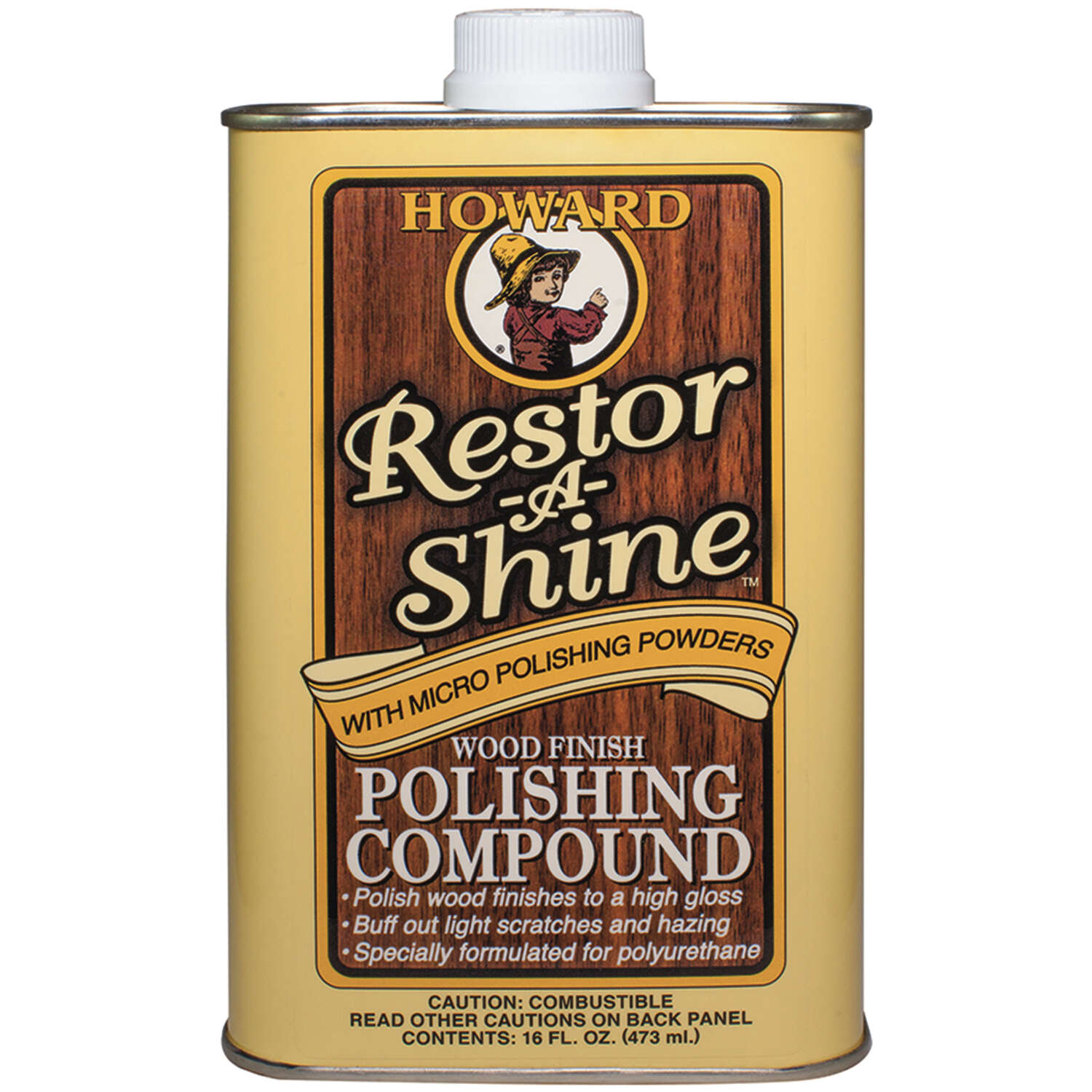 Howard  Restor-A-Shine  No Scent Polishing Compound  16 oz. Cream