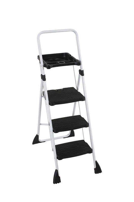 Cosco  27 in. H x 22 in. W 225 lb. Steel  Large Step Stool