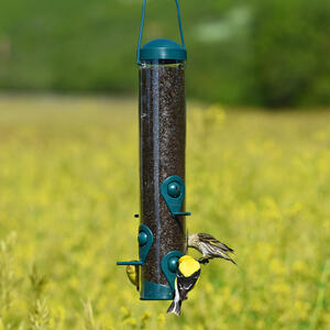 Perky-Pet  Wild Bird and Finch  1.8 lb. Plastic  Bird Feeder  6 ports