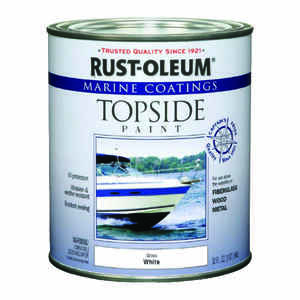 Rust-Oleum  Marine Coatings  Outdoor  Gloss  White  Marine Topside Paint  1 qt.