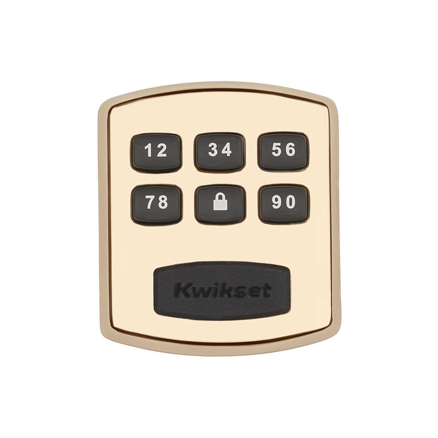 Kwikset  Polished Brass  Metal  Electronic Deadbolt