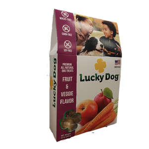 Lucky Dog  Fruit & Veggie  Dog  Grain Free Treats  1 pk