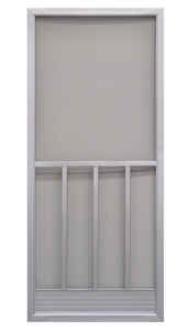 Precision  79-3/4 in. H x 35-1/4 in. W Promo  Gray  Steel  Screen Door