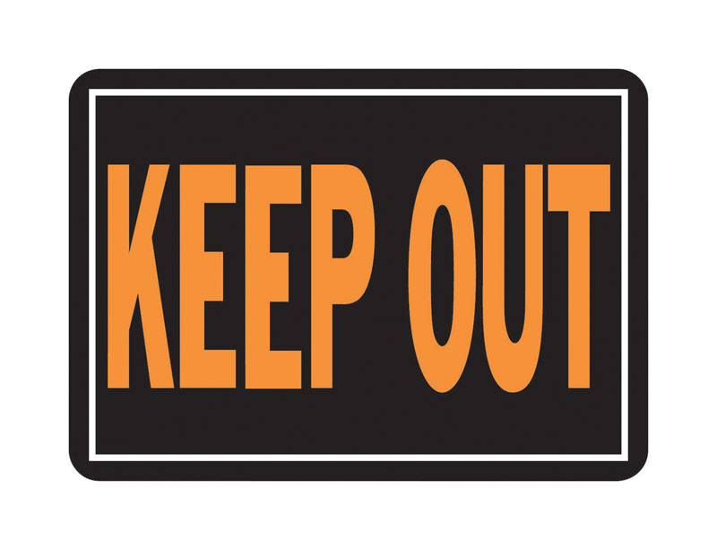 Hy-Ko  English  14 in. W x 10 in. H Keep Out  Aluminum  Sign