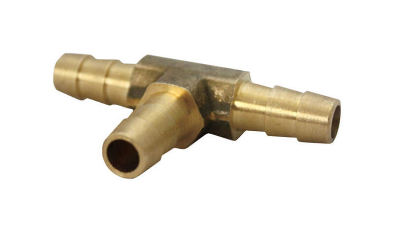 Ace  Brass  Tee Connector  3/8 in. Dia. x 3/8 in. Dia. Yellow  1 pk