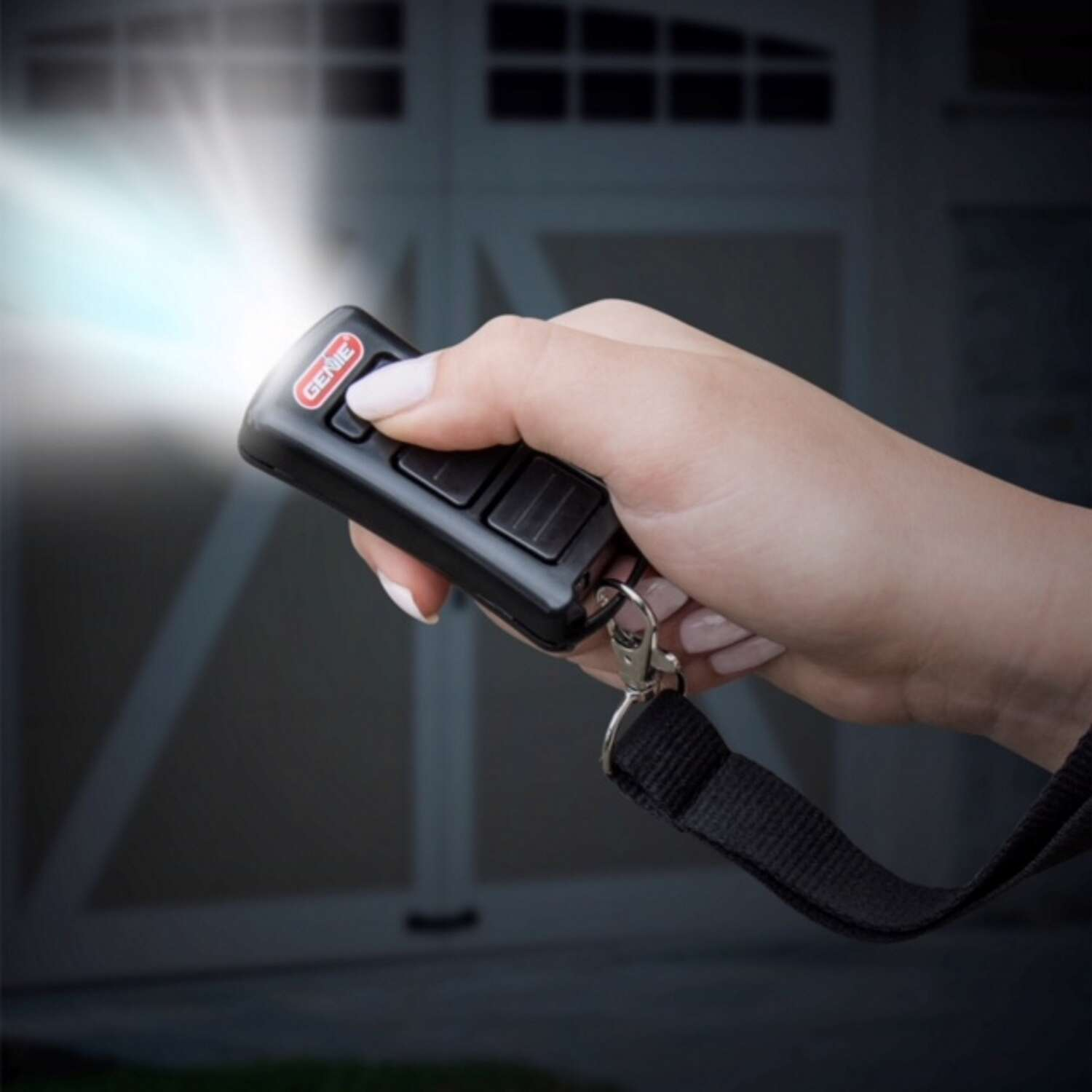 Genie  Flashlight  2 Door  Garage Door Opener Remote  For Genie Garage Door Openers