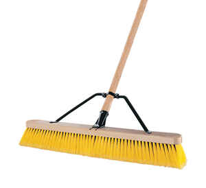 Quickie  Indoor/Outdoor Broom  24 in. W x 60 in. L Polypropylene