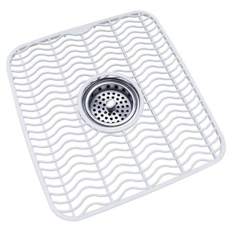 rubbermaid 11 5 in w x 12 5 in l plastic sink protector