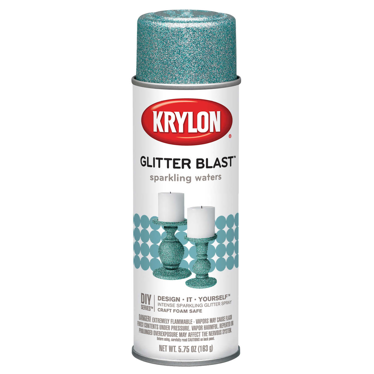 Krylon  Sparkling Waters  5.75 oz. Glitter Blast Spray Paint