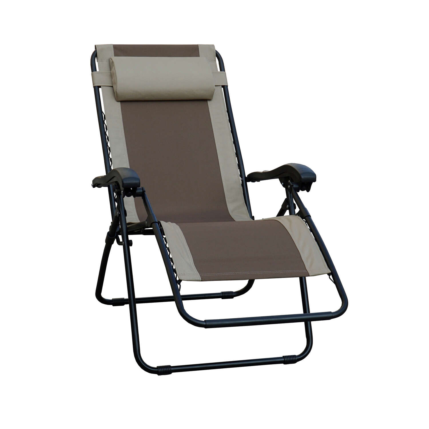 Living Accents  Black  Steel  Adjustable Backrest Relaxer Chair