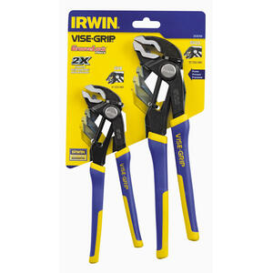 Irwin  Vise-Grip  8 & 10 in. Alloy Steel  Tongue and Groove Pliers Set  Blue  2 pk