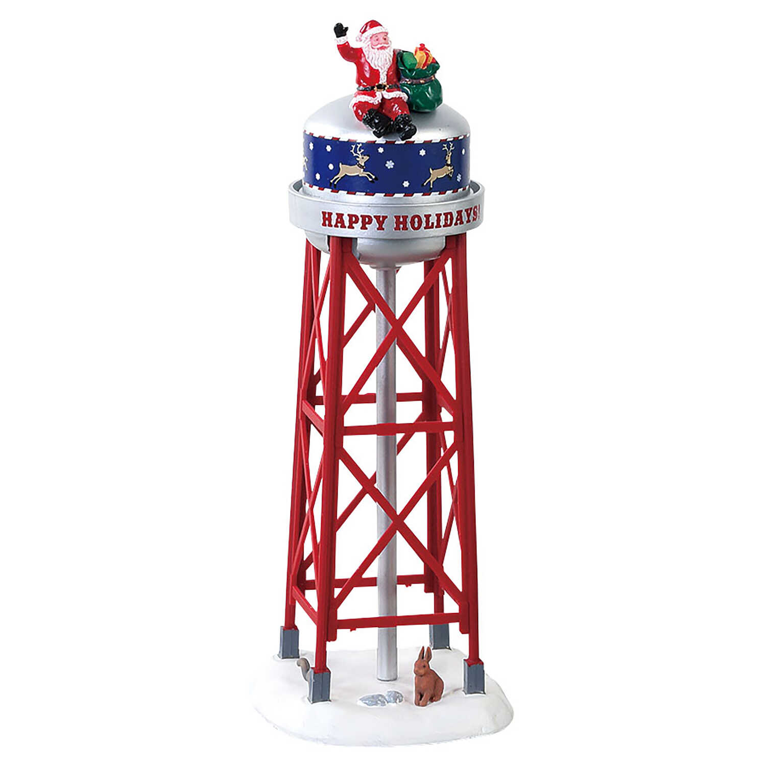 Lemax  Christmas Holiday Tower  Tabletop Decoration  Multicolored  Plastic  1 pk