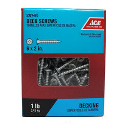 Ace  No. 6   x 2 in. L Phillips  Bugle Head Galvanized  Deck Screws  1 lb.