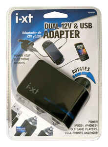 Custom Accessories  Goxt  12 volt Black  USB Adapter