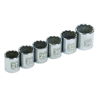 Craftsman  1/2 in. drive  Metric  12 Point Socket Set  6 pc.