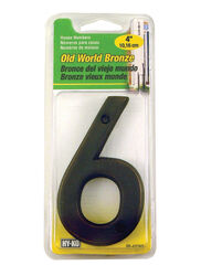 Hy-Ko  4 in. Metal  Nail-On  Number  6  1 pc.