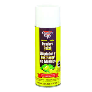 Quality Care  Lemon Scent Furniture and Cabinet Cleaner and Polish  10 oz. Spray