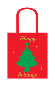 Ace  Christmas  16-1/2 in. H x 14 in. W x 7 in. L Reusable Shopping Bag