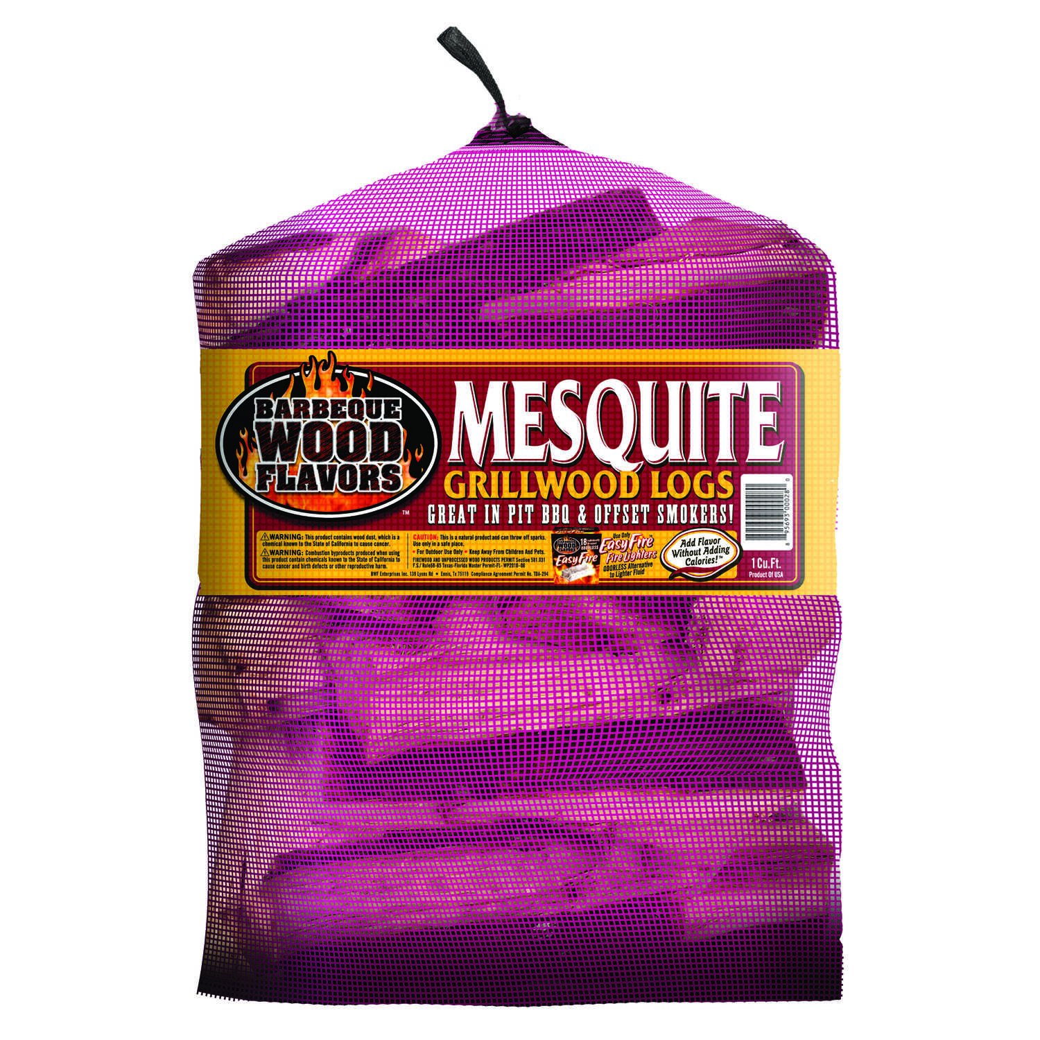 Barbeque Wood Flavors  Mesquite  Cooking Logs  1 cu. ft.