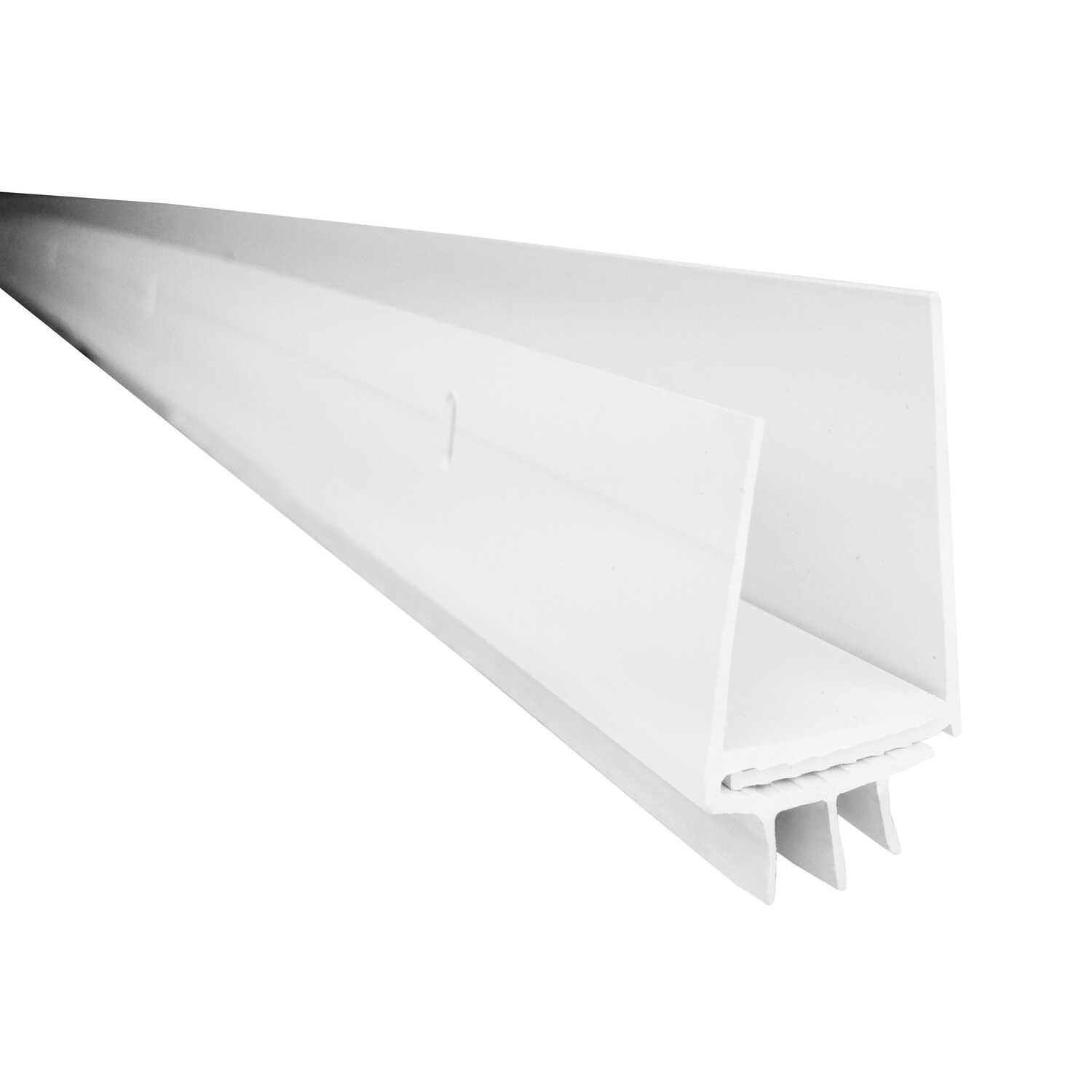 M-D Building Products  White  Vinyl  Door Sweep  For Door Bottom 3 ft. L x 3/4 in.