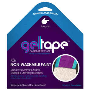 Gel Tape  Paint Barrier Tape  1.25 in. W x 81 ft. L Blue/Purple  Painter's Tape  1 pk