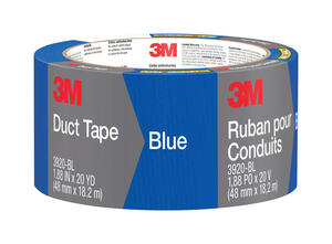 Scotch  1.88 in. W x 20 yd. L Blue  Solid  Duct Tape